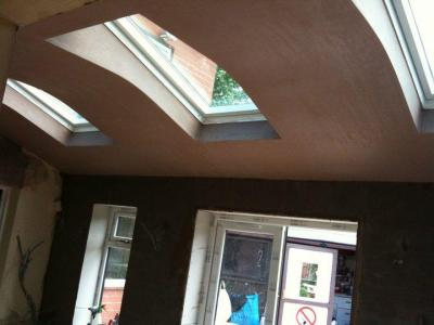 Extension 1 - plastering & Velux.